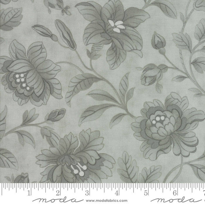White and Gray Patterned  Fabric Fabric by the Yard Aqua Mixology by Studio M for Moda